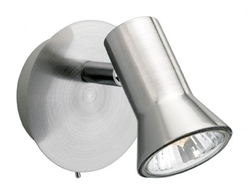 Firstlight 6090BS Brushed Steel Magnum Single Spot (Switched)